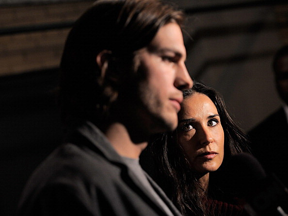 Ashten Kutcher and Demi Moore