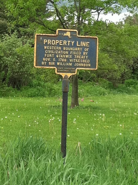 Property Line Historical Marker