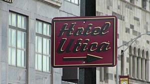 Hotel Utica Sign