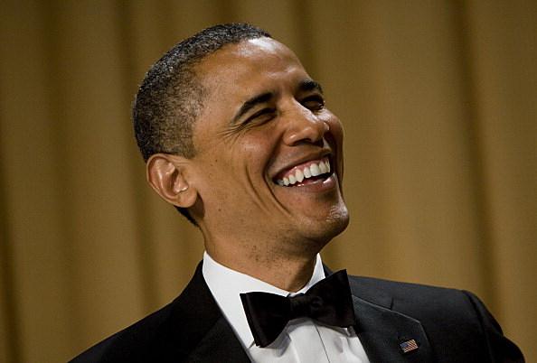 President Obama Laughing