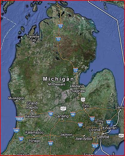 Cloud Formation Looks Like Michigans Lower Peninsula PHOTO