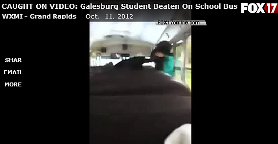child on school bus
