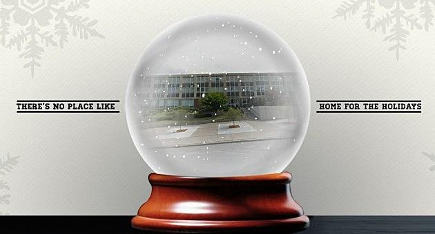 Utica City Hall Snowglobe