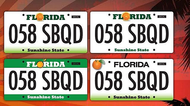 Florida new Licence Plates Vote