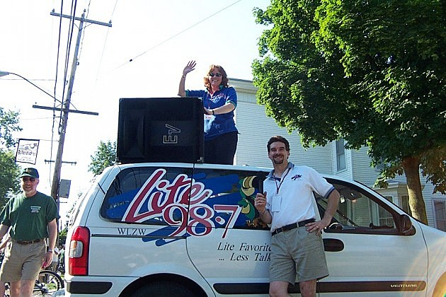 Trudy and Randy Jay at 2002 Utica Boilermaker race.