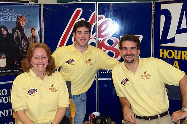 Trudy, Peter Naughton and Randy Jay from Lite 98.7.