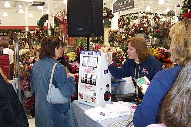 Trudy at Michael's grand opening in 2002.