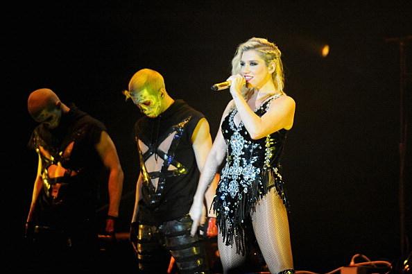 Kesha satanic outfit?
