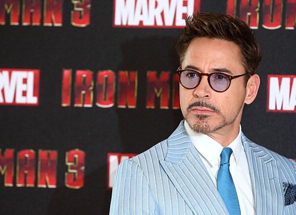 Robert Downey Jr, at Iron Man 3 photocall