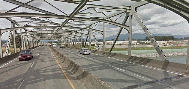 Goole Street View of Skagit River Bridge Interstate 5 Mount Vernon Washington