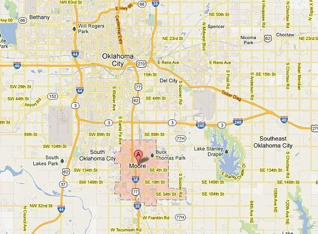 Moore Oklahoma Map