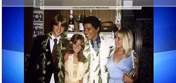 President Obama in high school