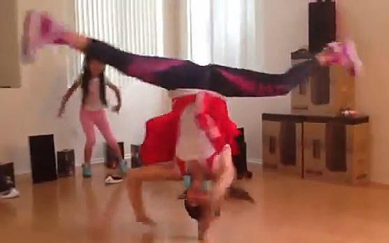pop can head spinning break dancer