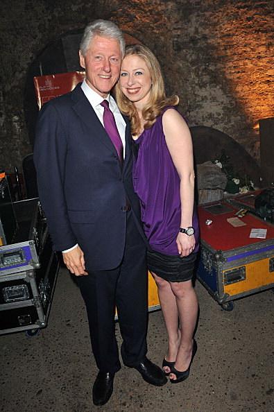 Bill Clinton and Chelsea Clinton