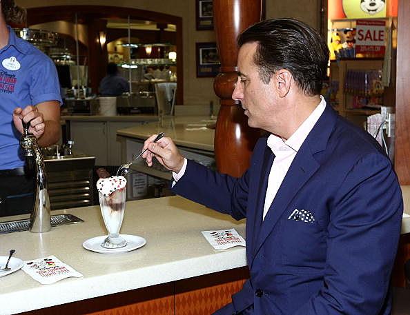 Andy Garica enjoys an ice cream soda