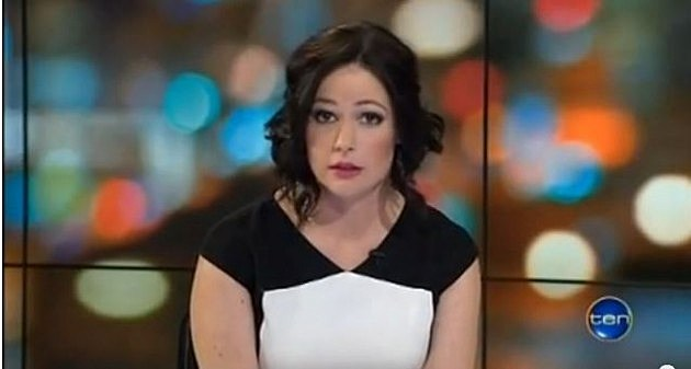 Channel Ten newsreader Natasha Exelby