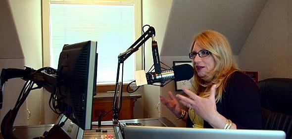 Delilah in the studio