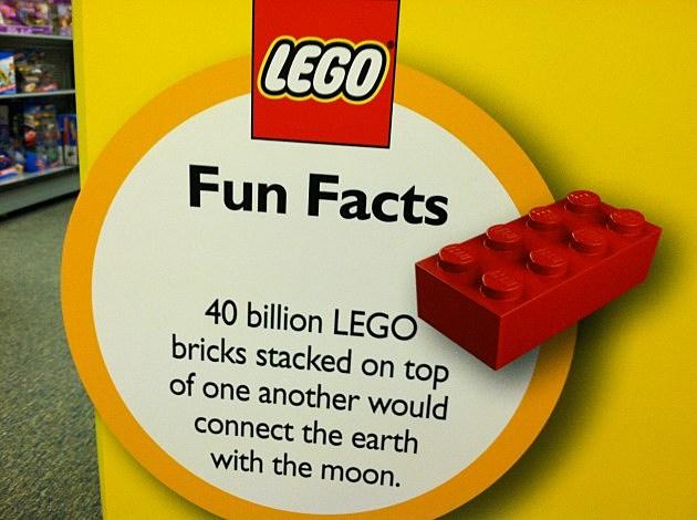 Legos fun facts.