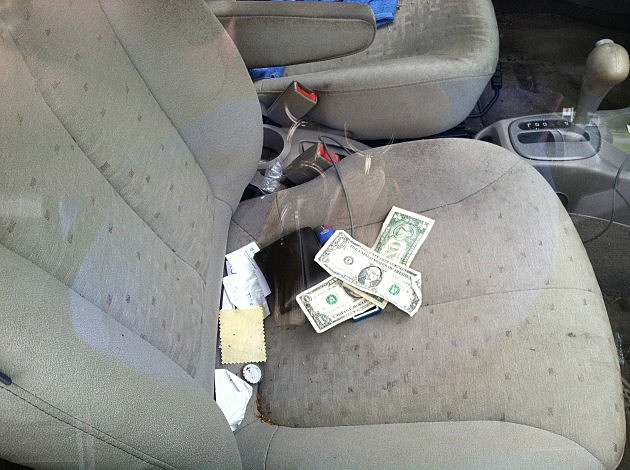 Valuables in a car