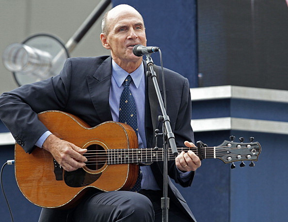 James Taylor messes up the national anthem.