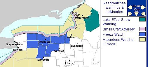 Lewis County Lake Effect Snow Warning