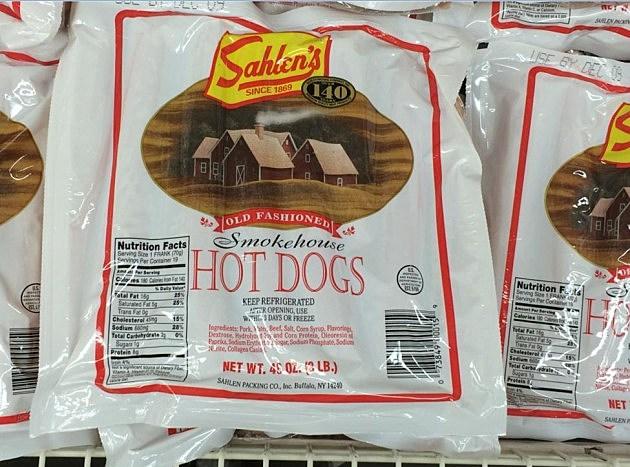 Sahlen's hot dogs