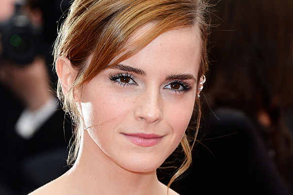 Emma Watson rocks the Golden Globes red carpet.