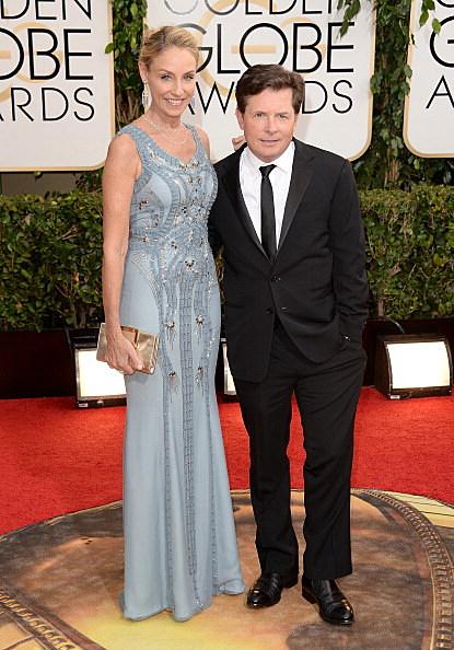Michael J Fox Arrives at the Golden Globe Awards