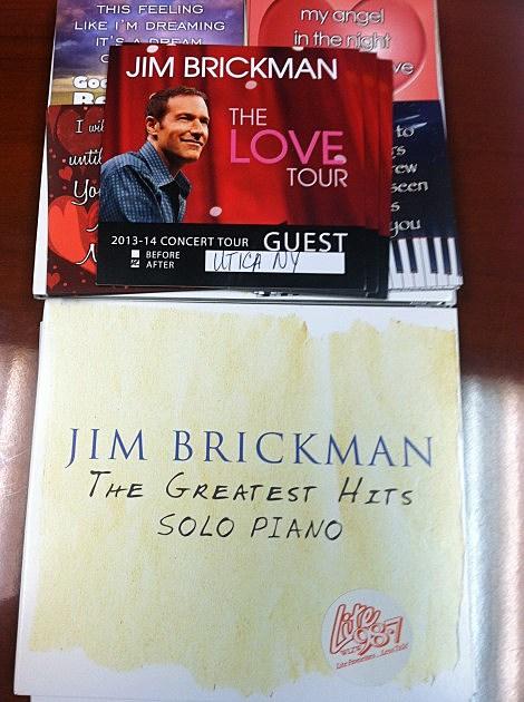 Jim Brickman CDs and Backstage Passes