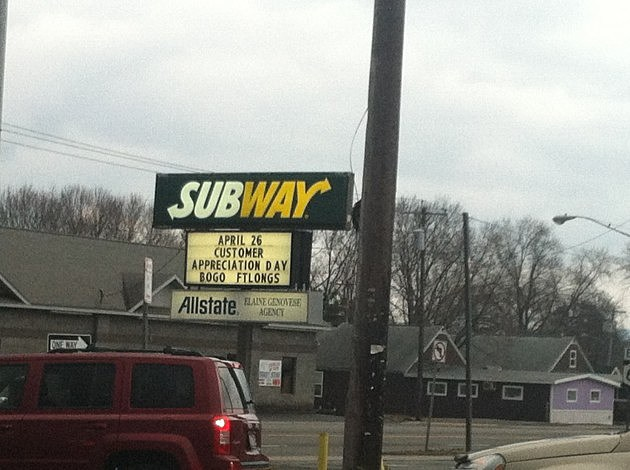 subway customer appreation day Whitsboro NY