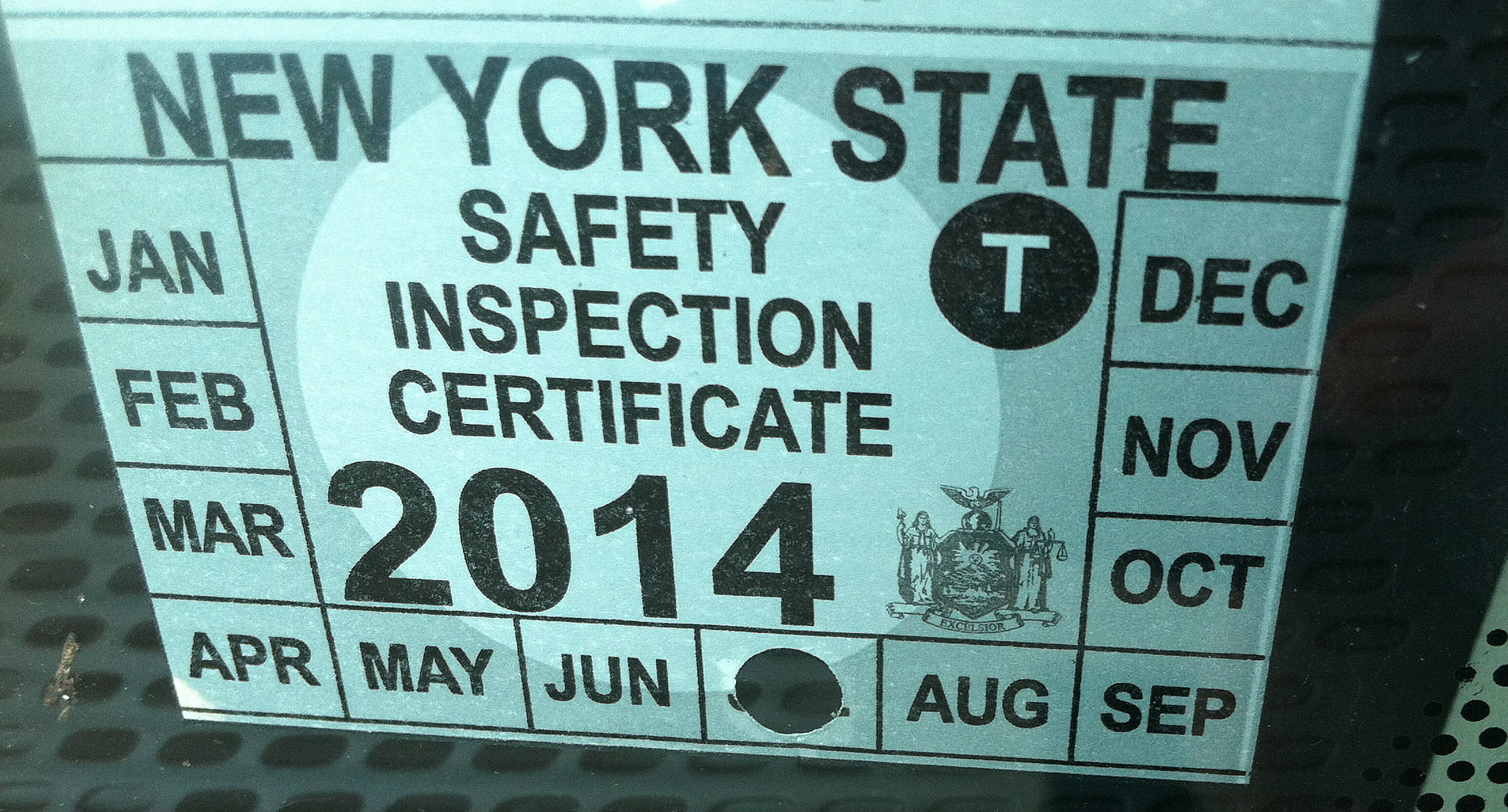 1968 New York INSPECTION Sticker