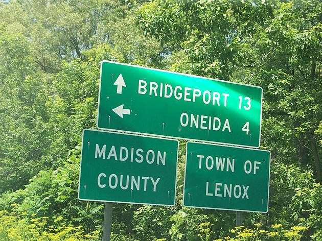 NY 31 at Oneida/Madison County line/Jct NY 316