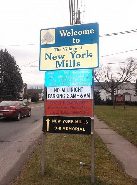 New York Mills Sign