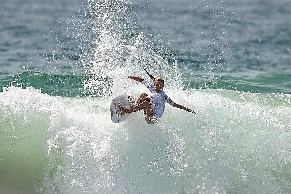 during the Australian of Surfing on February 15, 2015 in Sydney, Australia.
