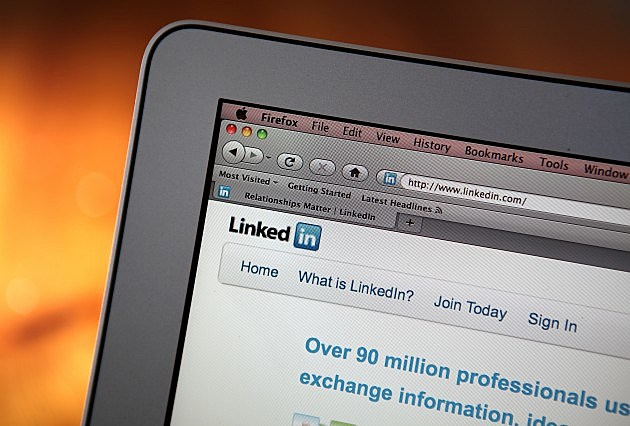 LinkedIn Page on a Computer