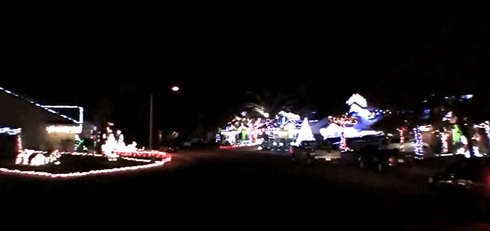 13 houses set up their christmas lights to the little drummer boy video
