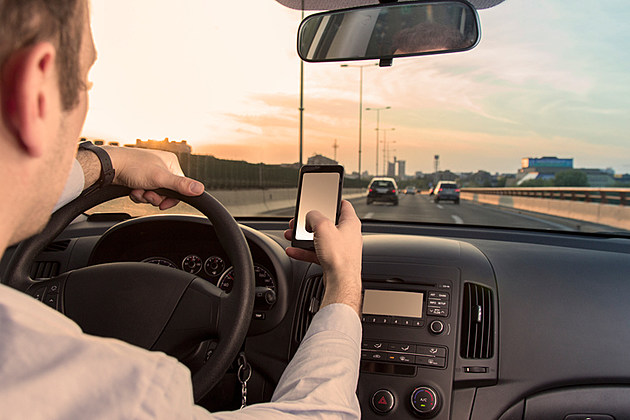 Texting sms while driving