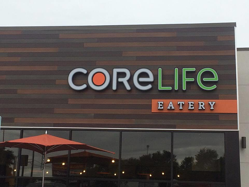 CoreLife Eatery in New Hartford - Sign on Building