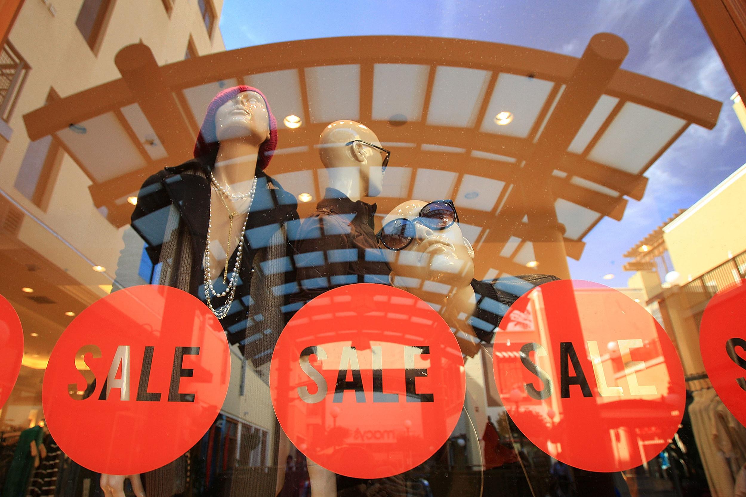 Looking Inside a Store Window in a Mall
