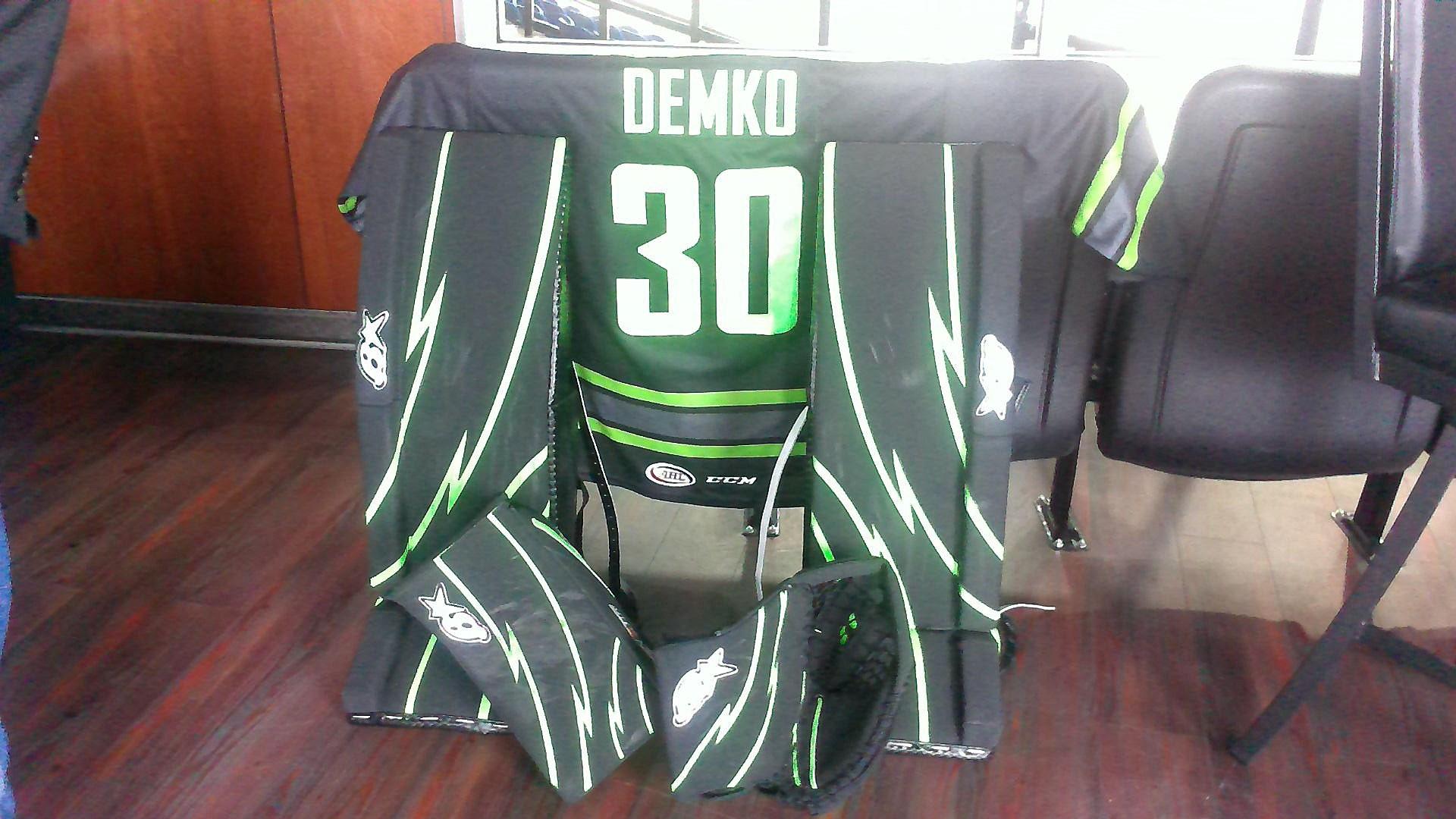 Utica Comets' Goal Demko's Uniform for Saturday's Game