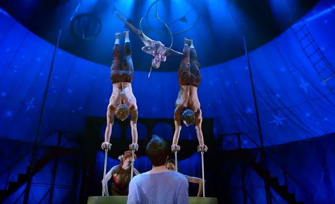 Screenshot of Broadway Musical PIPPIN Video