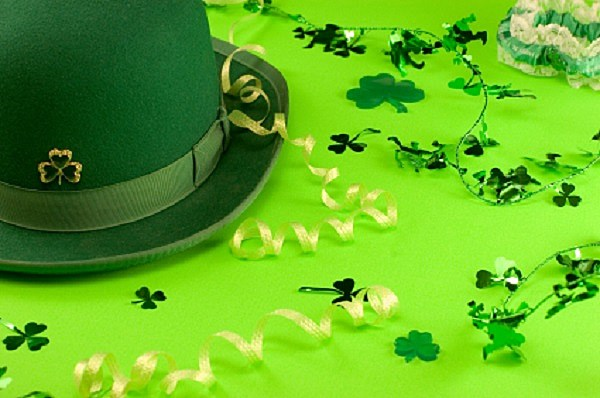 St. Patrick's Day Decorations and Hat
