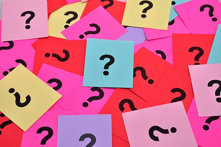 Question marks symbols