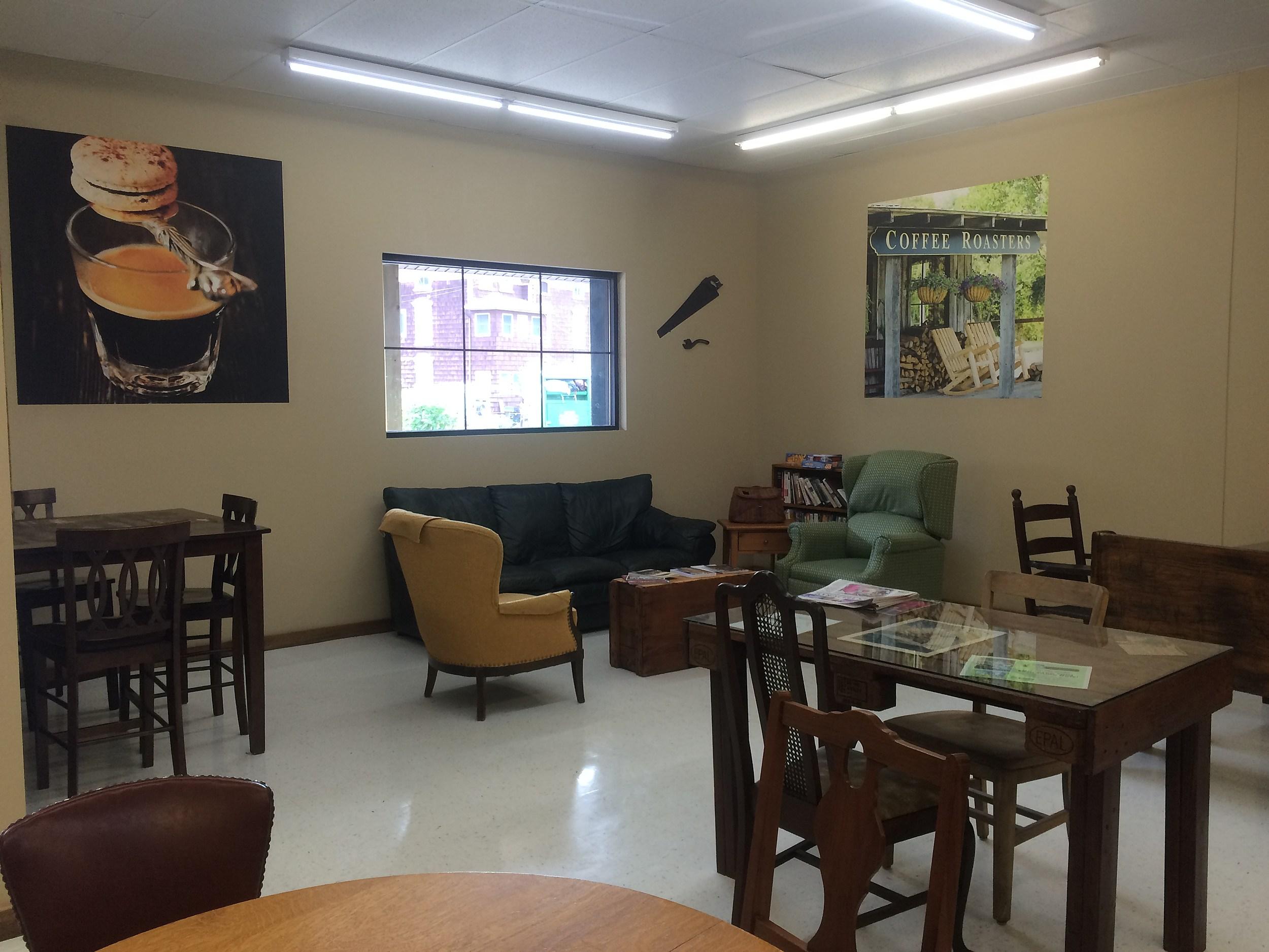Inside the Moose River Coffee Shop in Ilion