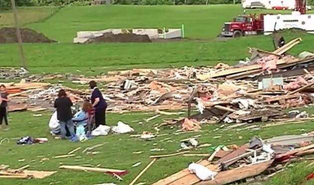 Tornado destruction in Smithfield, NY