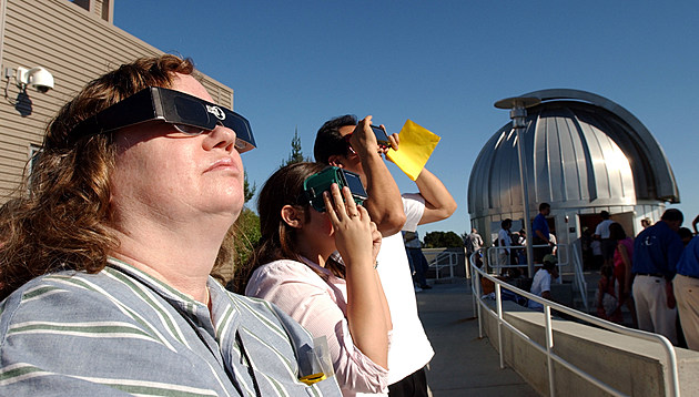 People View Solar Eclipse