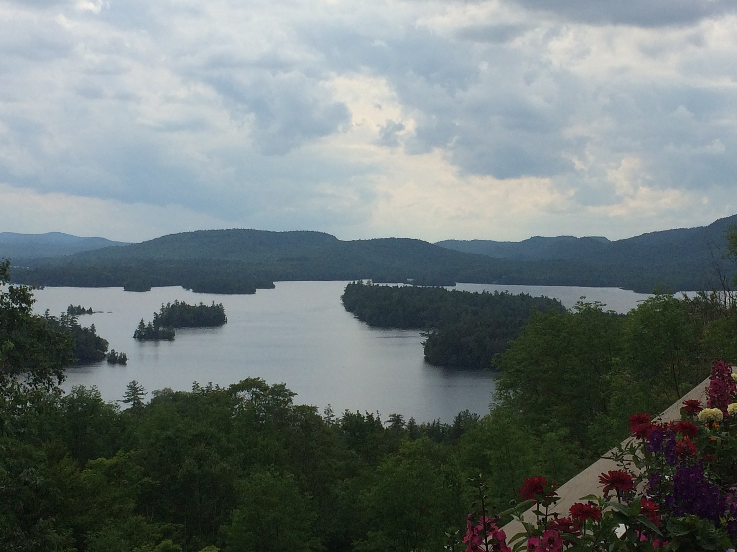 View of Blue Mountain Lake From the Adirondack Experience Museum