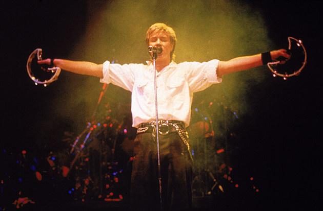 Simon Le Bon On Stage In Spotlight