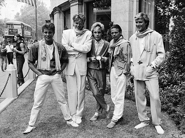 Duran Duran Posing on Lawn