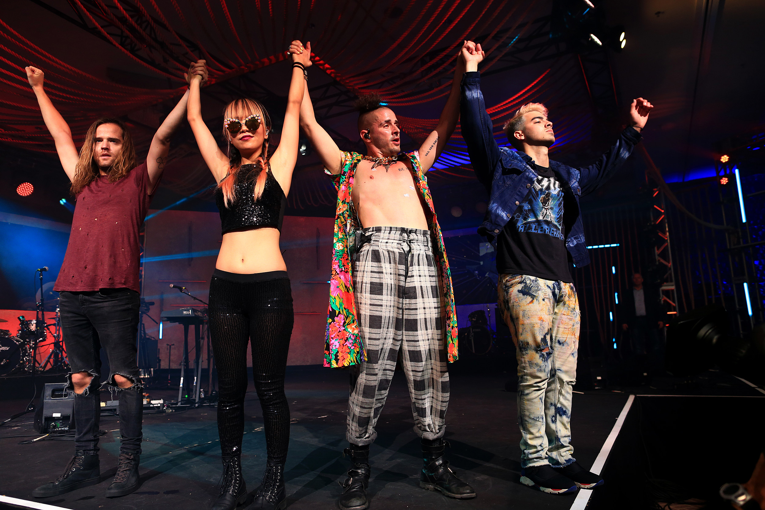 DNCE Performing in Austin, Texas